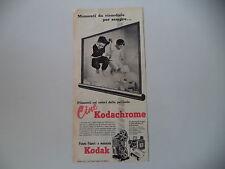advertising Pubblicità 1959 KODAK CINE KODACHROME