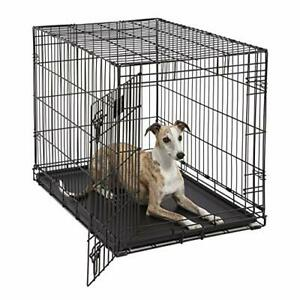 Life Stages LS-1636 Single Door Folding Crate for Intermediate Dogs41 - 70lbs