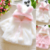Baby Kids Winter Warm Fur Coat Newborn  Long Sleeve Girl Soft Thick Overcoat new