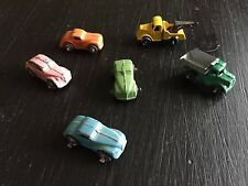 Vintage Set Of 6 Metal Toy Cars & Trucks