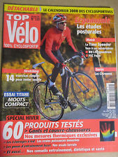 TOP VELO N°129: DECEMBRE 2007: ERGONOMIE - TIME SPEEDER - BH L59 SPEEDROM - FSC