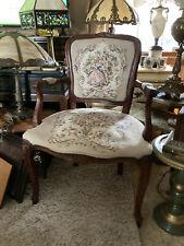 Vintage Italian Needle Point Arm Chair