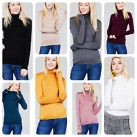 Women's Long Sleeve TURTLE NECK MOCK NECK Top Soft Stretchy Rayon Spandex