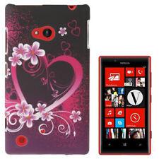 HardCase Schutzhülle für Nokia Lumia 720 Herz pink schwarz Etui Hülle Case Cover