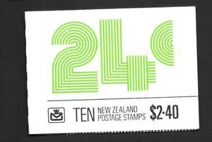 NEW ZEALAND, 1982  $2.40c, BOOKLET SB 37, MNH, COMPLETE, CAT £5