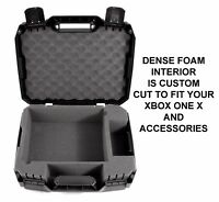 CASEMATIX Xbox One X Compact Travel Carry Case Fits Console , Controller & Games