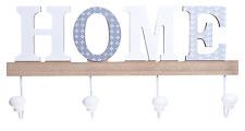 Wooden Hanger Hook HOME  Shaped shabby chic New Coat/Key Holder NEW