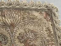Antique Woven Tapestry Table Runner Dresser Scarf Metal Thread Work Germany Lot2