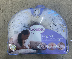 Boppy Nursing Pillow & Baby Positioner Zoo Animal Print White Unisex Light Use