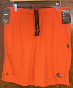 Nike Oregon St Beavers Football Dri Fit Shorts Orange Mens Sz M AR6898-891 New