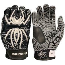 Spiderz Adult HYBRID Batting Gloves Pair-L-Black/White/Silver