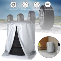 "32"" Tire Storage Bag Spare Wheel Dustproof Protective Cover Holds 4 Tyre Car"