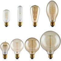 E27 40W Lampadina Lampada Retro Edison Filamento Filament Luce Xmas Bulbo 220V