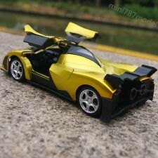 Devel Sixteen Super Cars Model 1:32 Sound&Light Alloy Diecast gifts Gold Toy New
