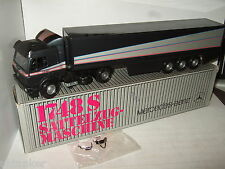 Rare NZG- Conrad Modelle No 313 Mercedes 1748S + Box Trailer in Big 1:43 Scale.