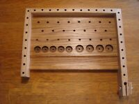 Fly tying bench,Left hander's tying station,Fly tool caddy,fly fisherman gift.