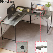 Computer Desk L Shaped Pc Table 60 Home Office Desk Workstation W Monitor Stand