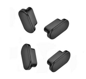 4-pcs USB Type-C Anti-Dust Plug Black Silicone Stopper for OnePlus 8 8T 8 Pro 9