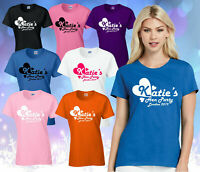 PERSONALISED ...'s HEN PARTY T-SHIRT,HEN DO / NIGHT, HENS PARTY LADIES TEE TOP