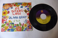 """OLIVIA GRAY""""ES BITZELI LIEBI- disco 45 giri HETOR Gerr 1979"""" PERFECT-"""
