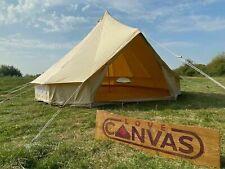 4m, 5m, 6m, 7m & 8m Cotton Canvas Bell Tent Glamping Tipi Yurt ZIG Groundsheet