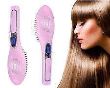Plancha de pelo Lcd Eléctrico Cepillo Peine De Cerámica Digital calor hierros Belleza
