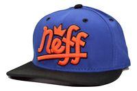 NEFF Headwear Brooks Flat Bill Snapback Cap Hat  Black & Blue Adjustable