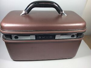 Vintage Samsonite (Silhouette 4) Mauve Train Case With Key