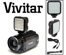 LED Video Light Kit With Rechargeable Power Package For Sony FDR-AX53