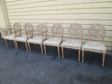 58312     Set of 6 QUALITY Dining Chairs with White Wash Finish