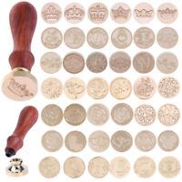 Wedding Invitation Vintage Brass Head Wooden Handle Wax Seal Sealing Stamp Card