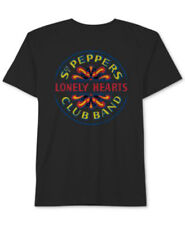 Hybrid Black Sgt Peppers Lonely Hearts Club Band Crew Neck T-Shirt - Small