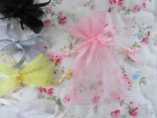 "100 Pearl Bead Organza Gift Bag 2x3"" Small Wedding Favor Pouch/7 Colors PO-1"