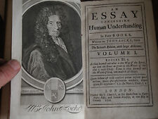 1715 & 1716 - JOHN LOCKE - AN ESSAY ON HUMANE UNDERSTANDING