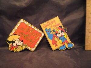 2 Vintage Mickey Mouse Refrigerator Magnets Gallery Le Fridge & What's Cooking