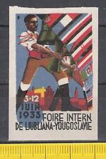 Vignette Mustermesse 1933 in Ljubljana ** Foire Intern. de Ljubljana Slowenien