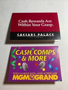 Caesar's/MGM Casino SLOT CARDS / Players Cards - LOT of 2 Diff - BLANK / Unused