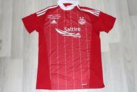 Aberdeen Football Shirt 2016/17 Adidas Soccer Jersey size M Scottish League Cup