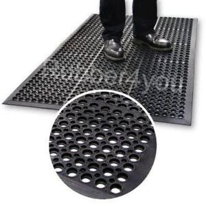 Heavy Duty Industrial Work Rubber Bar Safety Floor ANTI-FATIGUE mat 1500 x 900mm