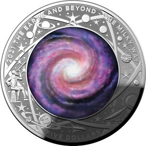 2021 Milky Way - $5 Coloured Fine Silver Proof Domed Coin