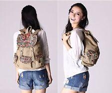 Ethnic Bag - Floral Design - Backpack Schoolbag Travel Daypack
