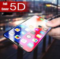 5D Curved Full Cover Tempered Glass Screen Protector Film For iPhone X 8 7 6 6S