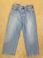 Diesel Saddle 32 x 26 Denim Blue Jeans Button Fly Men's Made in Italy