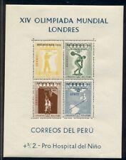 PERU #C81a, Olympic Souvenir sheet, og, NH, VF, Scott $50.00