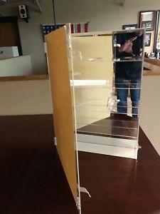 Plexiglass Collector's Display Case, Shelves, Door and Mirrored Back - NEW!