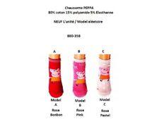 31/34 (model C) rose pastel * Paire de chaussettes PEPPA PIG NEUF l'unité