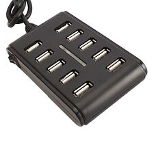10 Ports 10-Port High Performance Extension Cable USB 2.0 Hub Plug and Play US