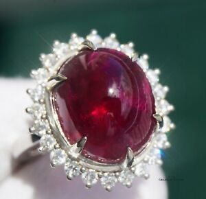 Rubellite Ring Gold Diamond Tourmaline Natural 16.4CTW GIA Certif RETAIL $15700