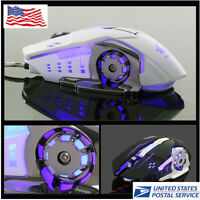 Ergonomic Pro Wired LED Light 4000DPI Optical Usb Gamer Gaming Mouse Mice