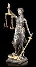 Justitia Figur - Göttin der Gerechtigkeit - Veronese Blattgold Akzente